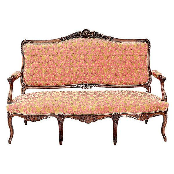 Pre Owned Italian Louis XV Style Sofa (8.325 DKK) ❤ Liked On