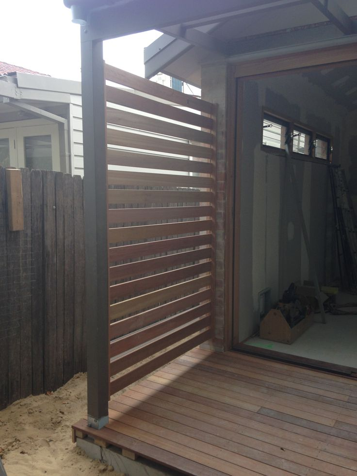 Privacy screen to be used for a hanging garden installed.