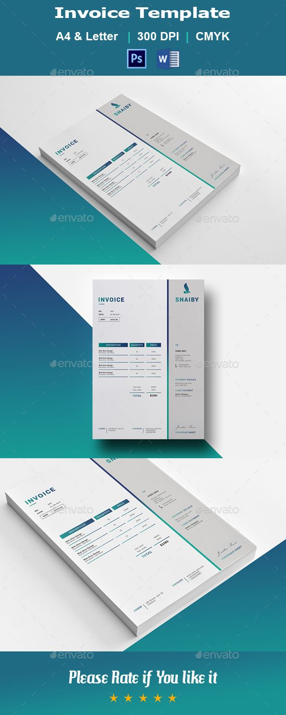 Invoice V01 — Photoshop PSD #invoices #red invoice • Available here → https://graphicriver.net/item/invoice-v01/20777311?ref=pxcr