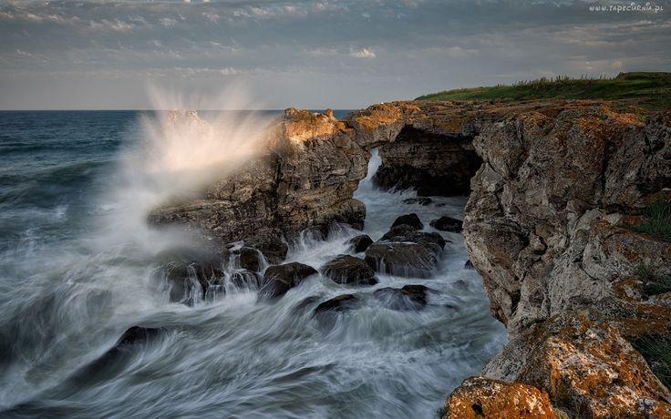 Morze, Fale, Klif