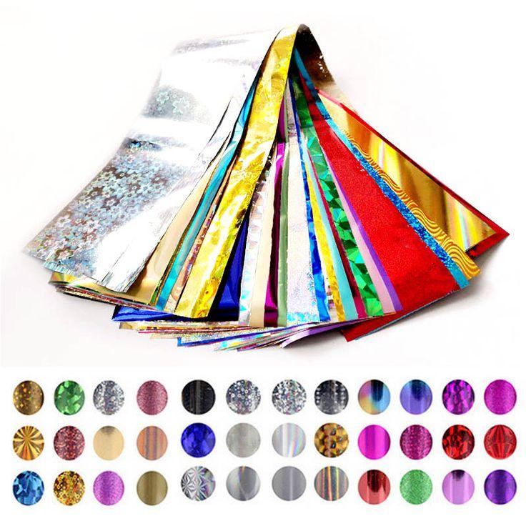 4 cm * 30 cm Lámina de Transferencia Del Arte Del Clavo Diseño de la Estrella Pegatinas para Uñas Foil Polaco Cuidado de la Belleza Del Clavo DIY envuelve El Envío Libre