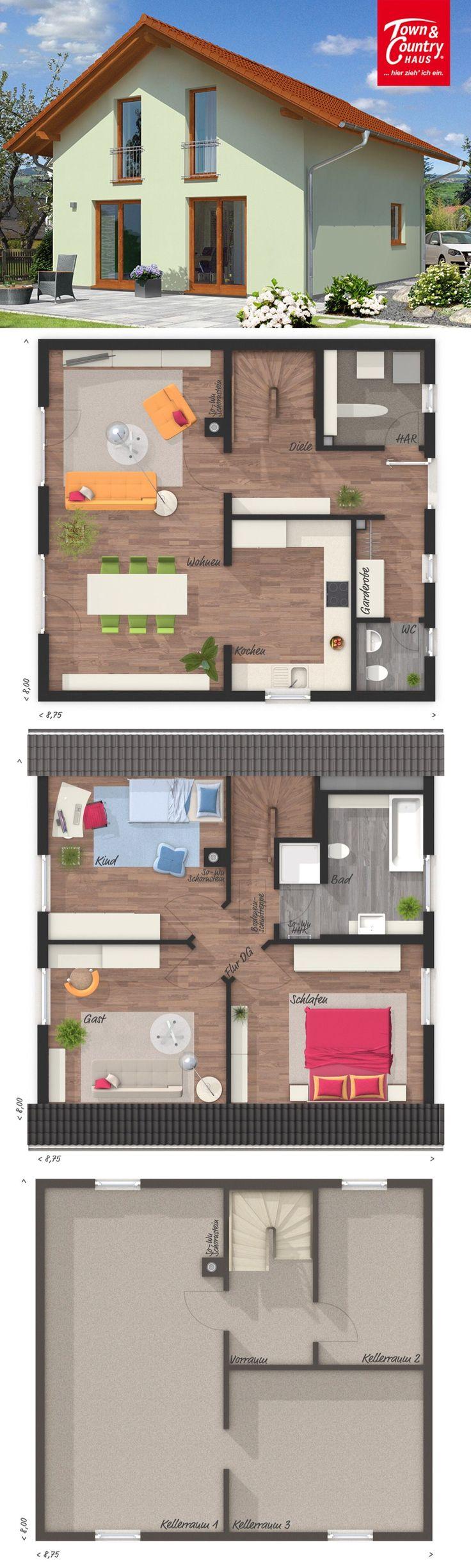 Einfamilienhaus klassisch mit satteldach architektur 4 for Einfamilienhaus klassisch