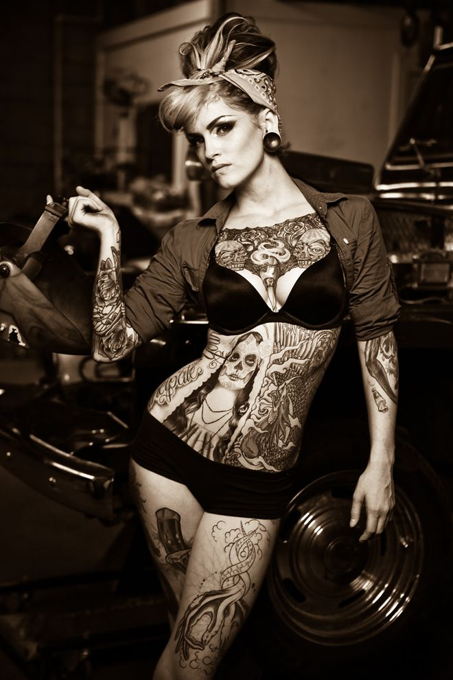 love her hair.. not necessarily all those tats  >>> I disagree, I like the tats, not much for the hair. :S: Girls, Sexy, Tattoos, Beautiful, Body Art, Pinup, Pin Up