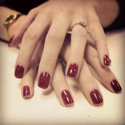 #red #glitter #167 #seductive #lights #smoke&mirrors #collection #festive #nail #art #christmas #nails #ilovenails #gelnails #biosculpturegel #art #winter #design xmasnails #glitternails