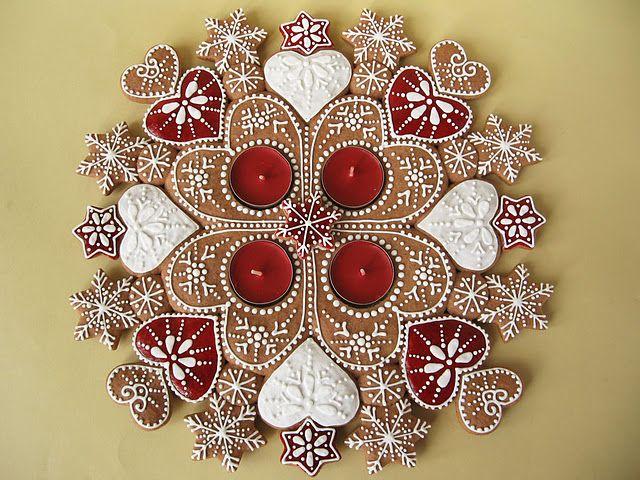 hungarian cookies Advent wreath mandala (by Moha Konyha)