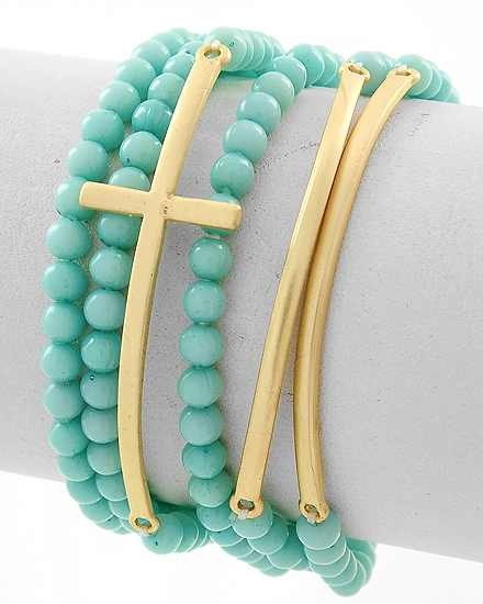 love the turquoise and gold!