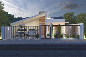 Casa térrea com garagem para dois carros   – casas