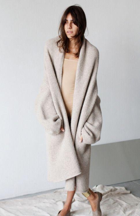 Super soft nude long cardigan from alpaca wool