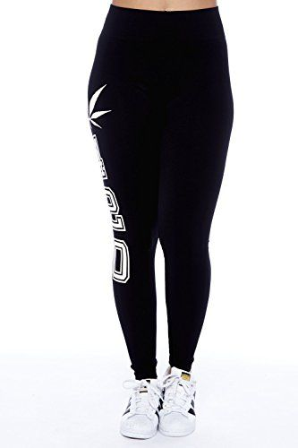 Womens Ladies Woorkout Weed Marijuana 420 Leggings Pants SML528SP - 420 Shop