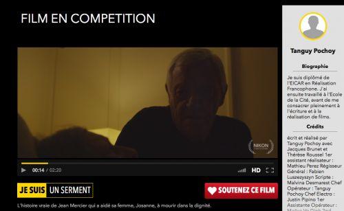 Le court métrage en compétition pour le #NikonFilmFestival, raconte l'histoire vraie de Jean Mercier, condamné à un an de prison avec sursis pour avoir aidé sa femme à mourir dans la dignité.  http://www.festivalnikon.fr/video/2015/1823