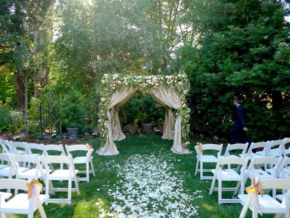 Help planning a super small wedding weddingplanning for Outdoor wedding gazebo decorating ideas