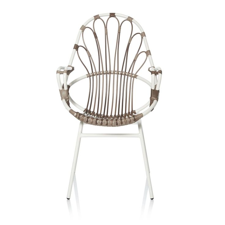 Stuhl, outdoorgeeignet, Metall/Polyrattan