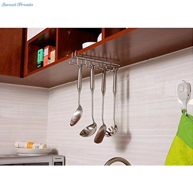 Sweettreats Stainless Steel Kitchen Storage Rack Cupboard Hanging Hook Shelf Dish Hanger Chest Storage shelf Bathroom Holder
