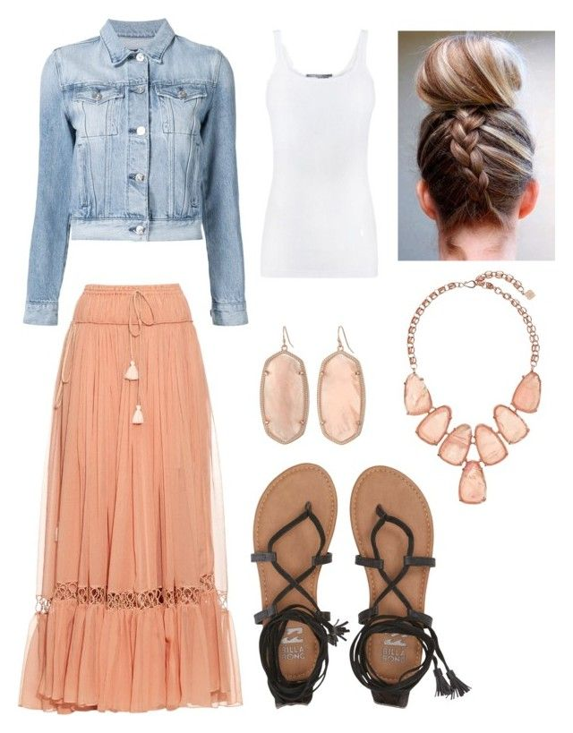 """""""Elementary Teacher"""" by texasthorn on Polyvore featuring 3x1, Chloé, Vince, Kendra Scott and Billabong"""
