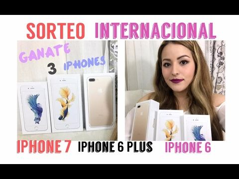 SORTEO INTERNACIONAL GIVEAWAY IPHONE 7 IPHONE 6 PLUS Y IPHONE 6