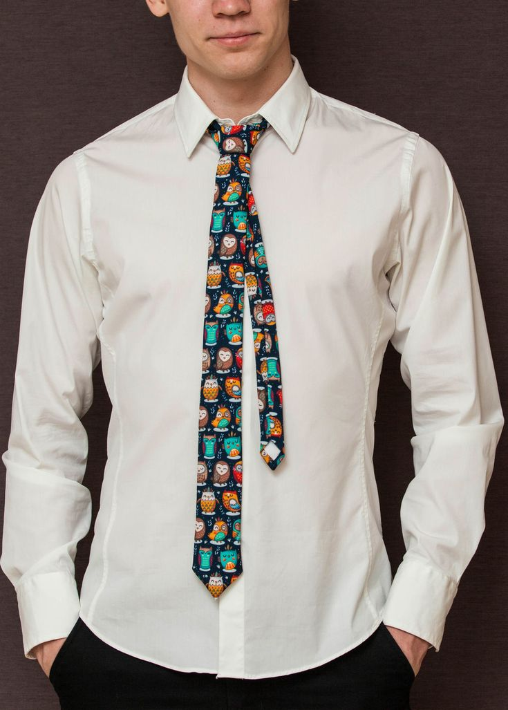 Awesome necktie with Owls!