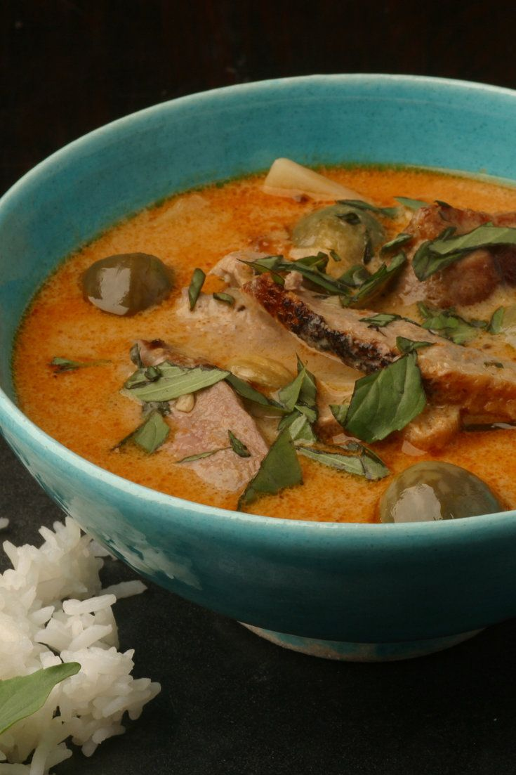 The Thai-style version of duck à l'orange here requires only a little more work. It does not take much time to begin with, but if it makes life easier, prepare the curry base in advance, then cook the duck breasts when guests arrive. Reheat the curry sauce, carve the meat and combine. The fragmenting segments of orange and the deep sourness of the juice perfectly complement the oily richness of the coconut and the fat sweetness of the meat. (Photo: Jonathan Player for The New York Times)