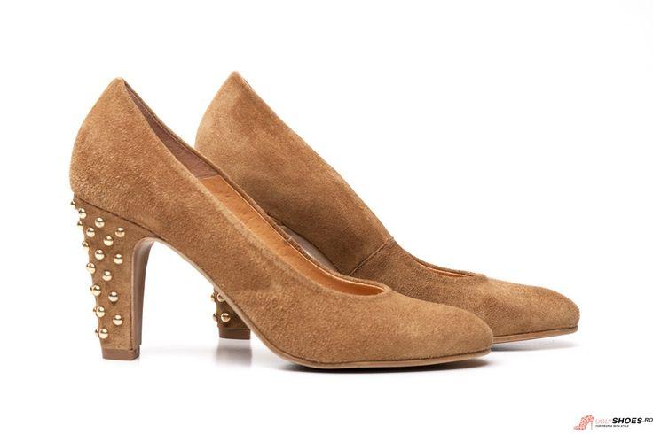 Pantofi cu tinte Igualados - Bej - 8.5cm