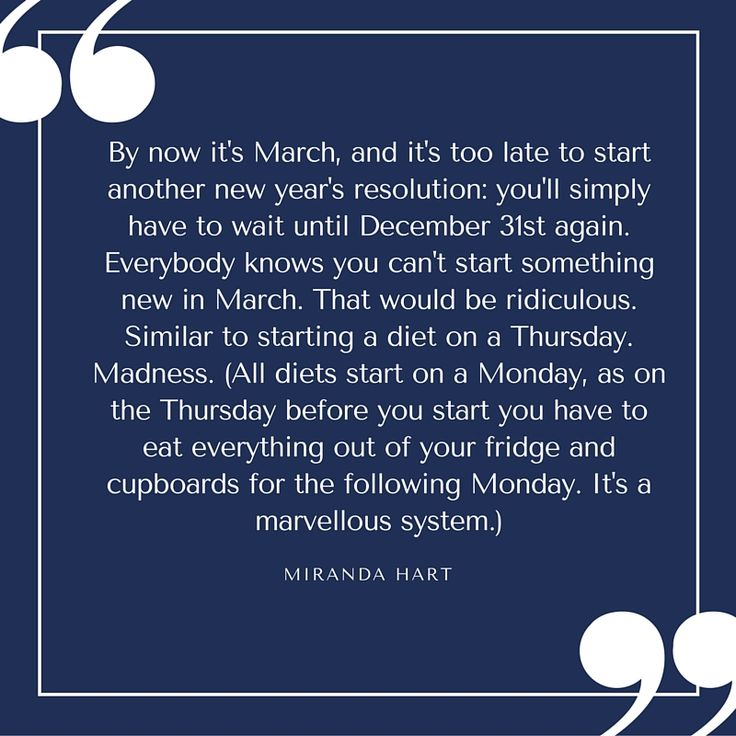 Quote - Miranda Hart - Diets Resolutionsl