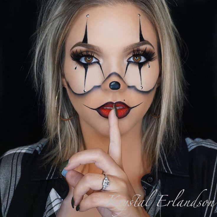 chrisspy gangster clown halloween makeup