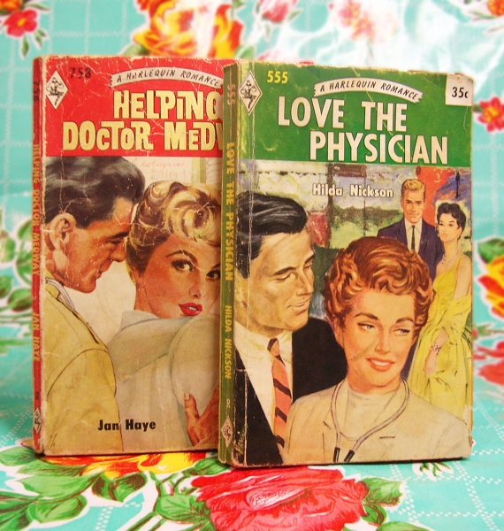 $10   Pair of Vintage Harlequin Romance Novels- Love the Physician and Helping Doctor Medway