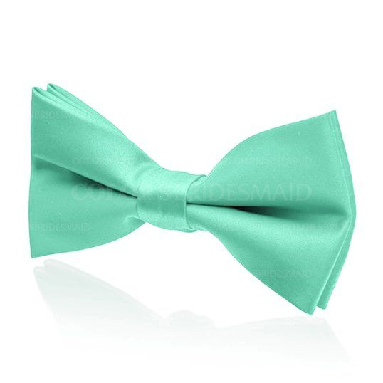 Mint Green Satin Bow Tie M33151 (Style M33151)
