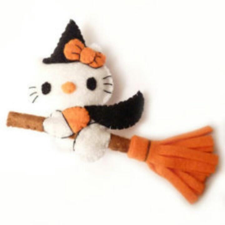 Brujita de fieltro: Decoratión Manualidades, Halloween Crafts, Felt, Para Halloween, Hello Kitty, Felt Fieltro, Felted, Halloweenthanksgiv Crafts, Crafts