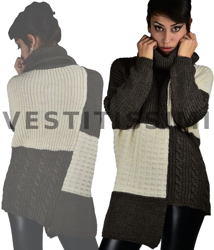 Maglione donna dolcevita #moda #fashion #style #abbigliamento Il prodotto è nuovo e #MadeInItaly  Taglia unica  Materiale:     60% Acrilico     20% Alpaca     20% Lana