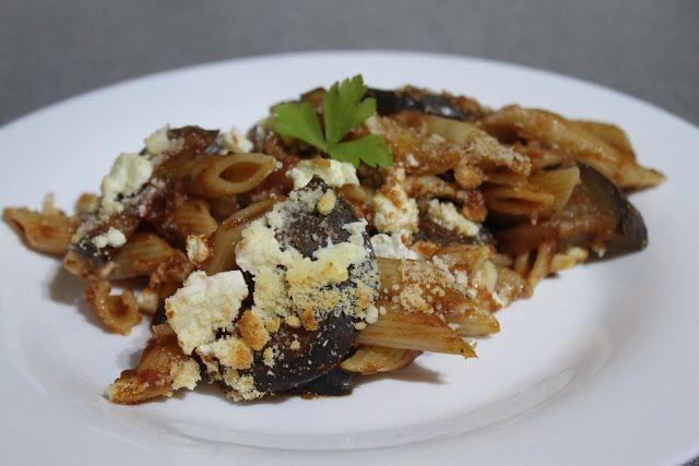 Three cheese eggplant parmesan pasta bake - Amuse Your Bouche