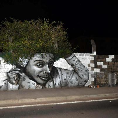 Le Jardin Afro. street artist