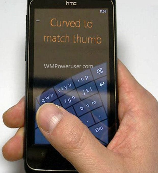 Leaked Windows Phone Keyboard: Curved For Your Typing Pleasure | TechCrunch