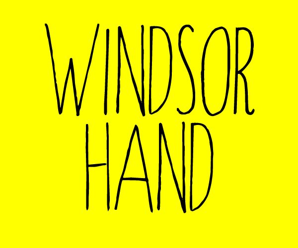 Windsor Hand font by Skyhaven - FontSpace