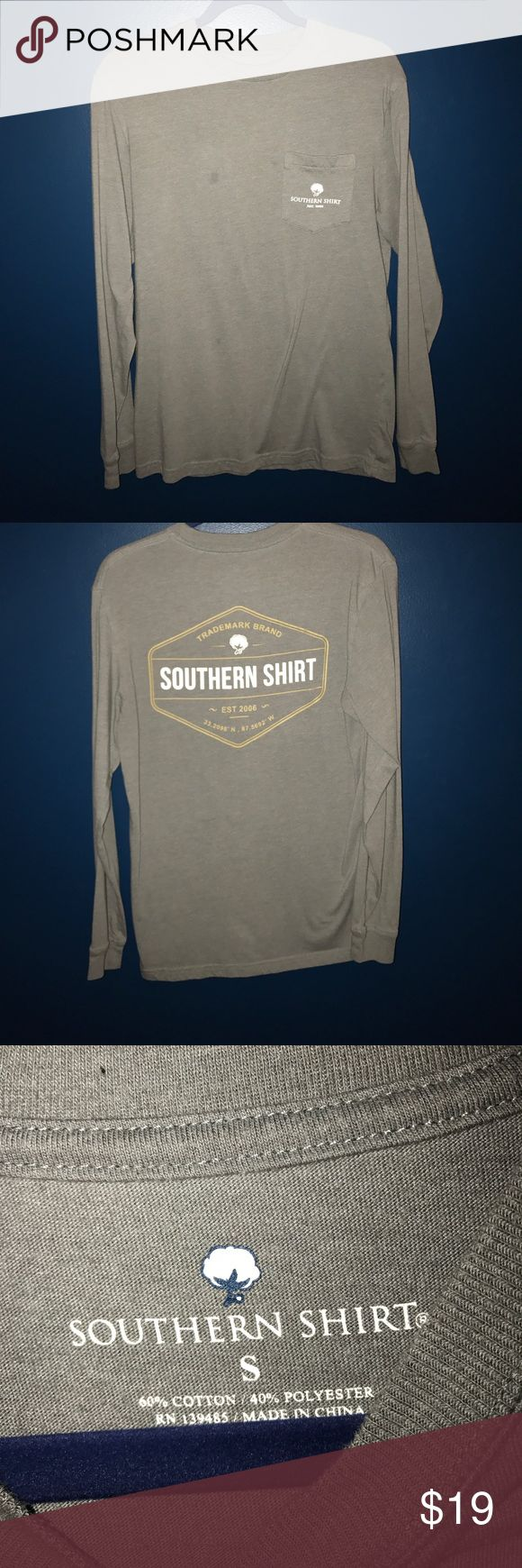 Southern Shirt Company LS Tee Good quality soft shirt, has a discolored spot on the front of the shirt. southern shirt company Shirts Tees - Long Sleeve