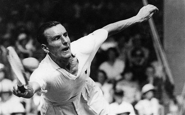 76 years ago - Fred Perry in action against Roderich Menzel on Court 1 in 1935