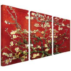 Asian Zen Decorative Oil Painting Hand Painted Wall Art 3 Piece:Amazon:Home & Kitchen