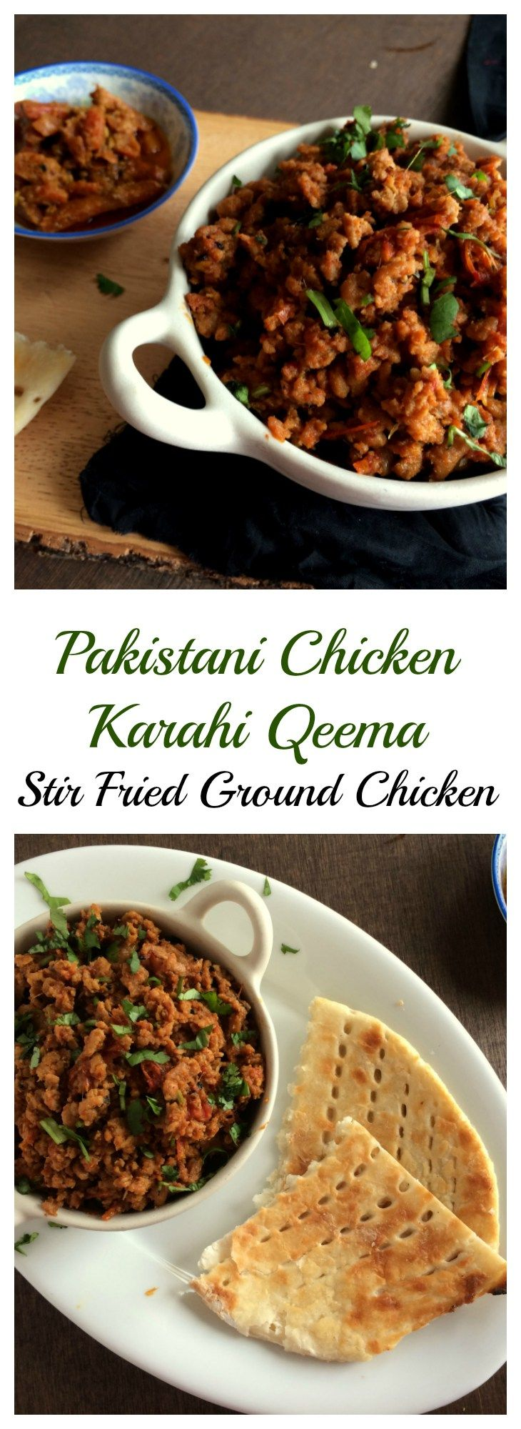 chicken karahi qeema