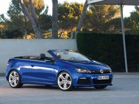 Volkswagen, Appealing 2013 Volkswagen Golf R Cabriolet Blue Front Side: Top 2013 Volkswagen Golf R Cabri Series