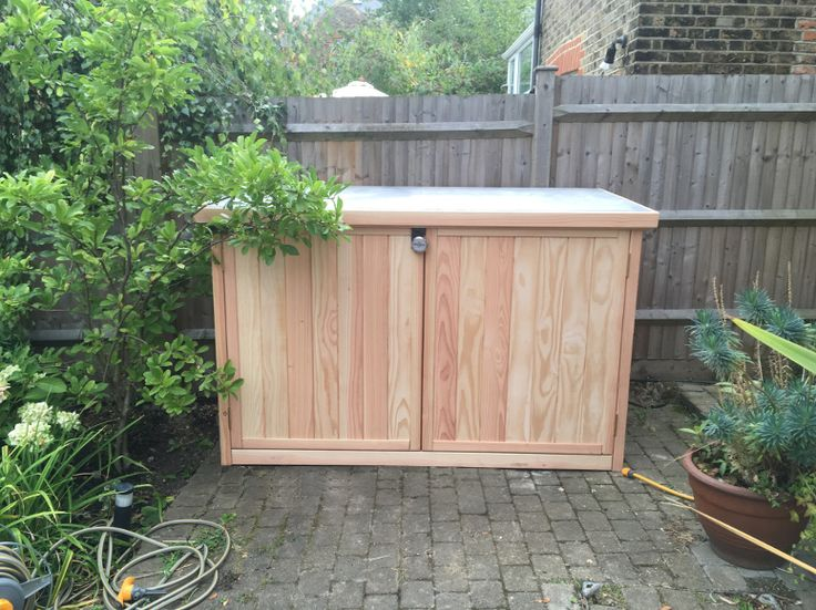Natural timber bike shed/garden storage £899. UK and international delivery available.