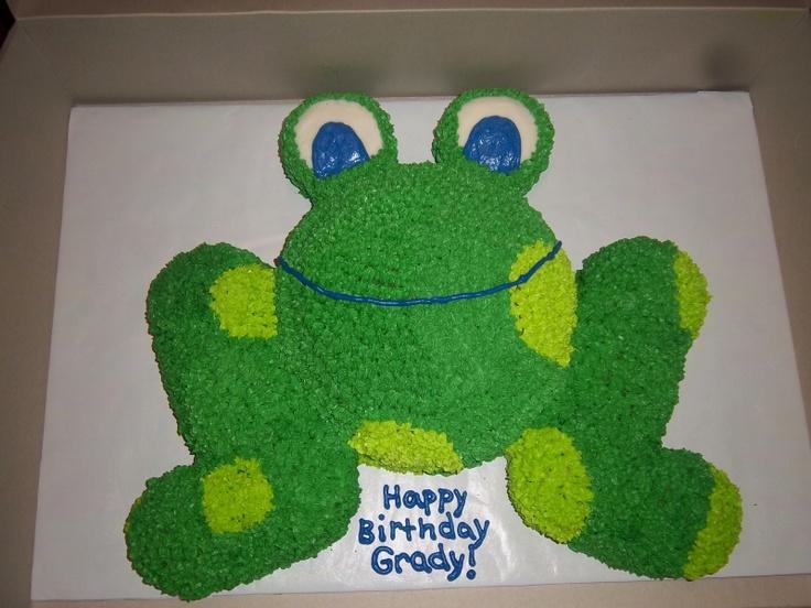 frog cake/cupcake