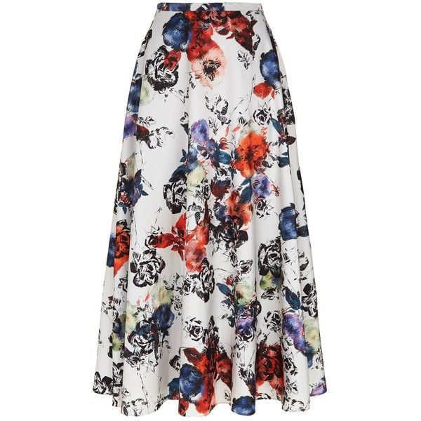 Pinko Floral Maxi Skirt (8.011.635 IDR) ❤ liked on Polyvore featuring skirts, pinko skirt, floral skirts, floral print maxi skirt, long floral skirts and long skirts