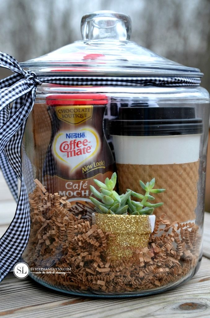 Best 25 coffee gift baskets ideas on pinterest coffee for Homemade gifts in a jar for men