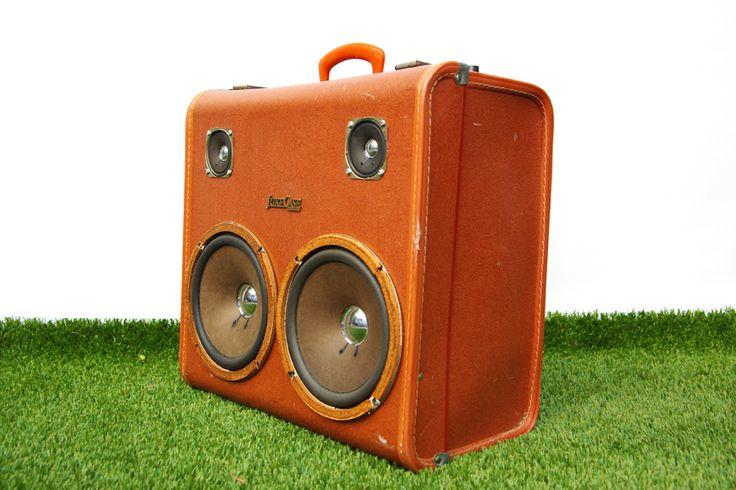 suitcase speaker vintage melbourne boombox jukecase