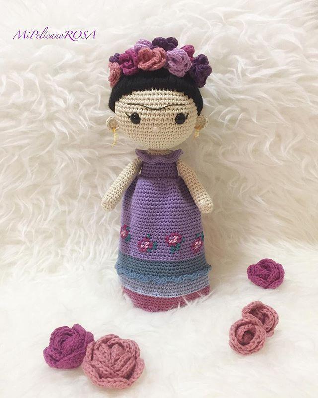 Knit Amigurumi Doll Pattern : Best frida knit dolls images on pinterest