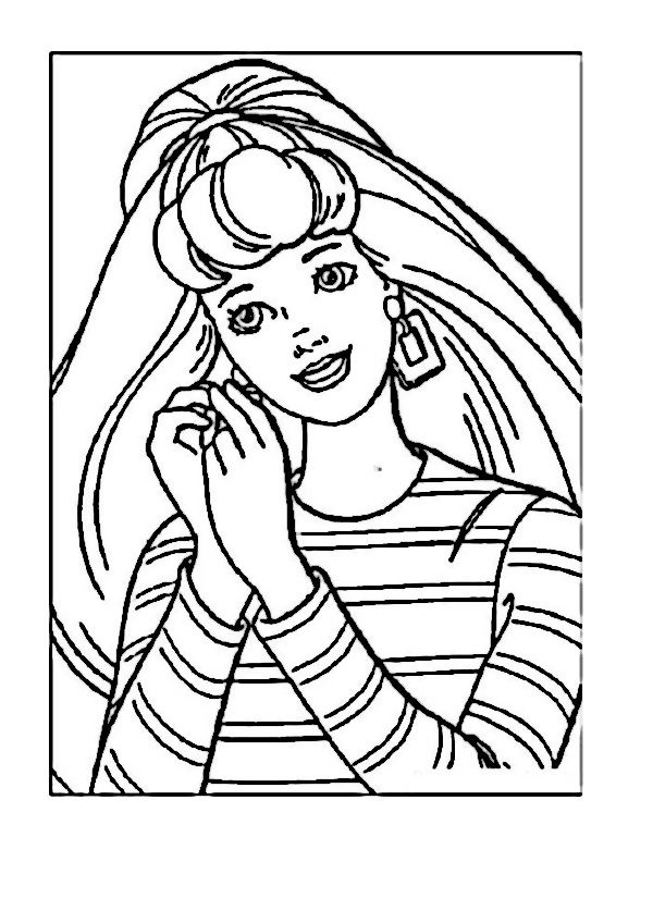 barbie 62 ausmalbilder für kinder malvorlagen zum