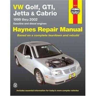 View Larger Image Volkswagen Golf GTI Jetta Cabrio 1999 2002 Haynes Service Repair Manual ...