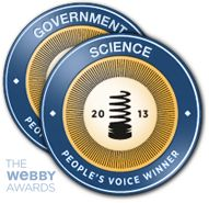 2013 Webby Awards: People's Voice Winner in Science & Government