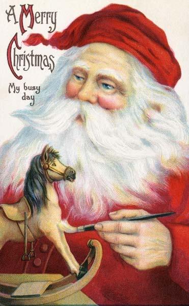 Santa is an artist!  :)