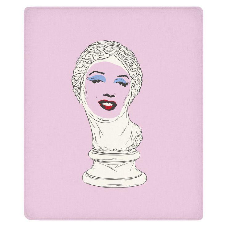 Marilyn Aphrodite Fleece Throw
