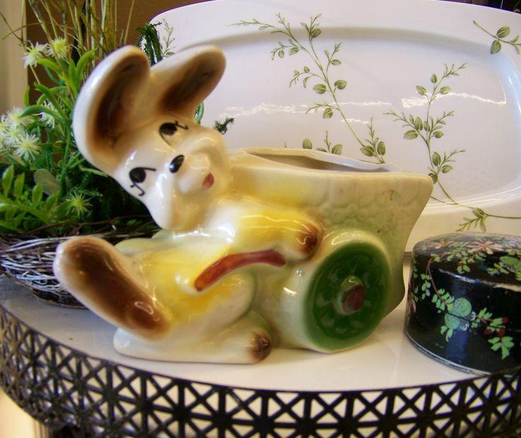 A vintage bunny for an Easter vignette.