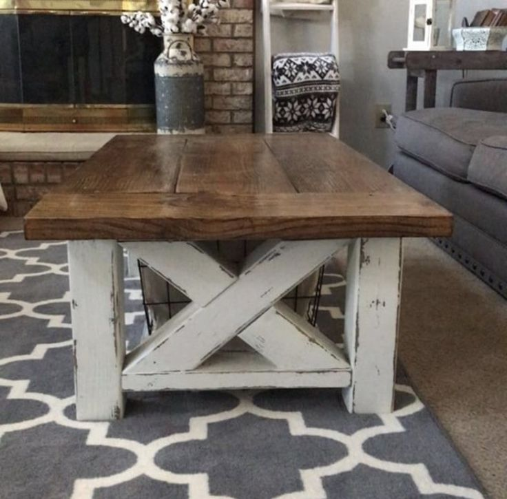 Wonderful Chunky Farmhouse Coffee Table